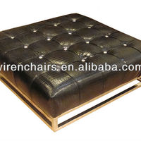 Modern Popular Comfortable Leather Sofa Footstool