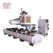 CHAODA JCT1325A ATC single arm wood cnc router with drilling sawing and adjustable positioning block cup table