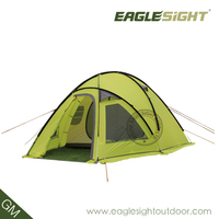 2 layer green tent for camping