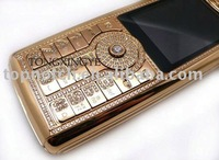 2013,Low Price $80 N89 Gold Mobile Phone,Tri-band,Bluetooth,Camera,Cheap Cell Phone with Diamond, Free Shipping