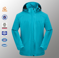 OEM polyester breathable soft waterproof jackets for adult
