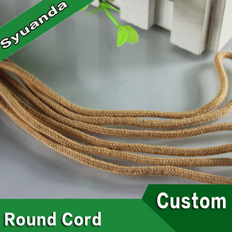 Cotton Cord Braided With Or Without Filler Round Cord 100% Cotton