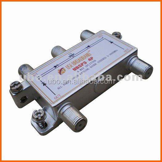 (UBSP3-4P) 3G 10-3000MHz 4 way CATV Satellite splitter CATV signal indoor splitter tap