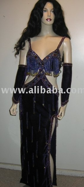 Sexy Velvet Belly Dance Dress