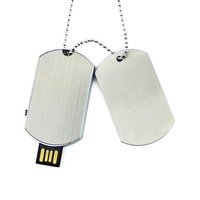 Necklace Military Dog Tag Shape Usb Flash Drive Pendrive Memory Disk Pen Drive 4Gb 8Gb 16Gb 32Gb 64Gb Customize Logo Picture