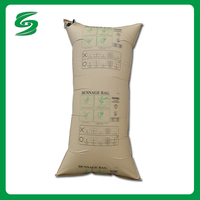 Prevent Goods From Damage Kraft Paper Air Dunnage Bag For Containers