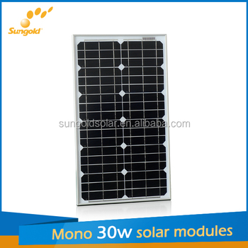 standard 30w mono solar panel for street light system