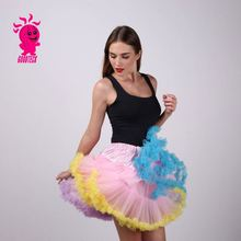 20 color Extra Fluffy Teenage Girl Adualt Women Pettiskirt Tutu Women Tutu Party Adult Skirt Performance Cloth