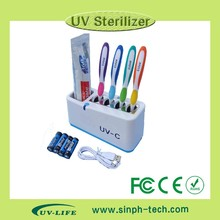 UV toothbrush sanitizer/sterilizers/disinfectors--Family/countertop design TB-3