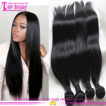 Wholesale silky straight long hair extension 100% remy virgin peruvian long hair