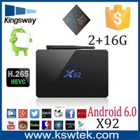 Installed google store X92 s912 android 6.0 tv box SD/MMC CARD Support 64GB smart tv android ott box