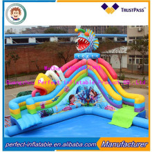 Commercial inflatable water park ,used water park slide for pool