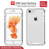 crystal clear soft Tpu bumper pc back anti-scratch acrylic one piece luxury cover cases for iphone 7 transparent