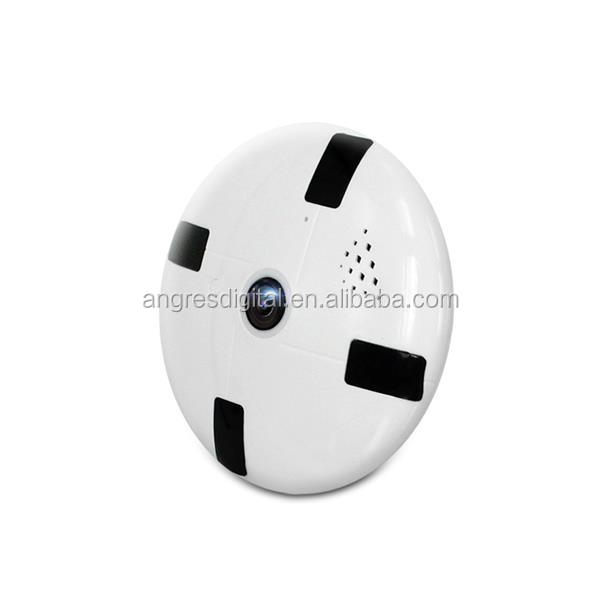 New 360 degree Fisheye Lens WiFi IP CCTV Security Camera P2P white led light color image day and night