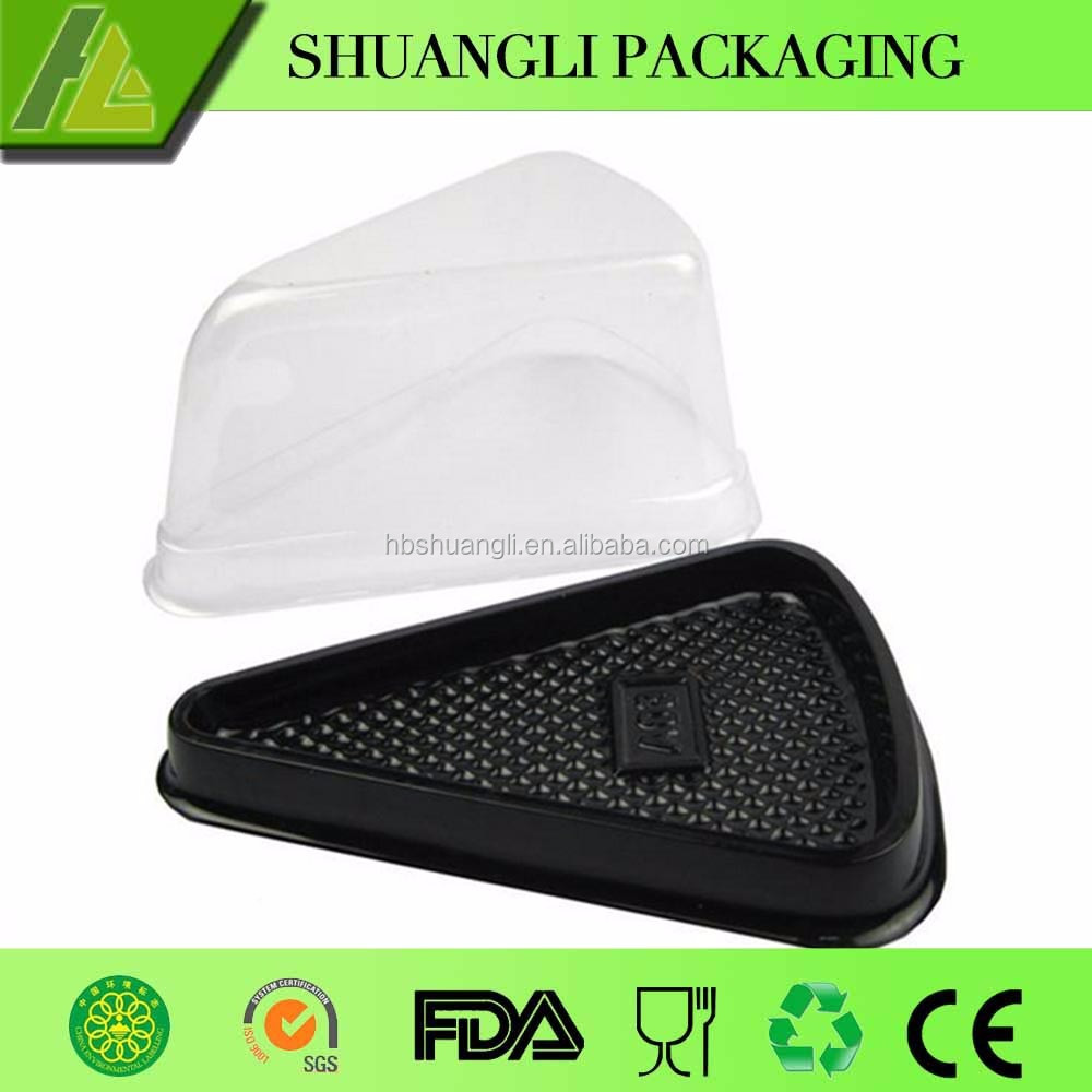 Food Grade Plastic Disposable Triangle Cake Box