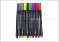 China Kearing brand 2.0mm fiber tip colorful non toxic washable fabric marker for clothes fashion design