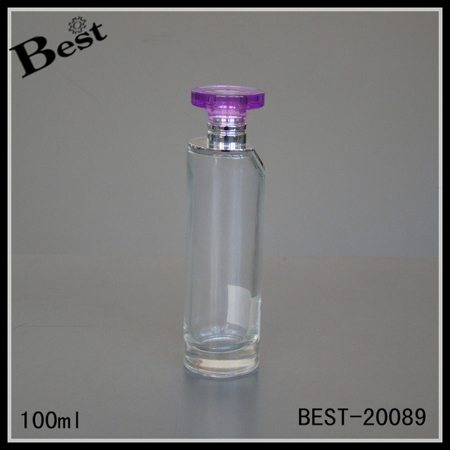charm perfume price thin cylinder clear 100 ml glass perfume bottle cosmetic packaging