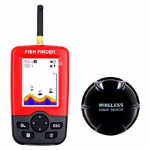 Portable Wireless Sonar Sensor Colorful Fish Finder with LCD Display