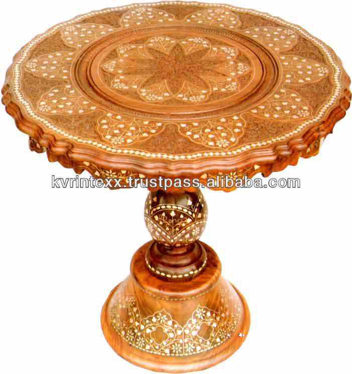 wooden carved center table designs