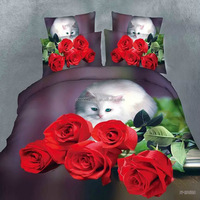 3D reactive printed bedding sets Cotton bedding sets