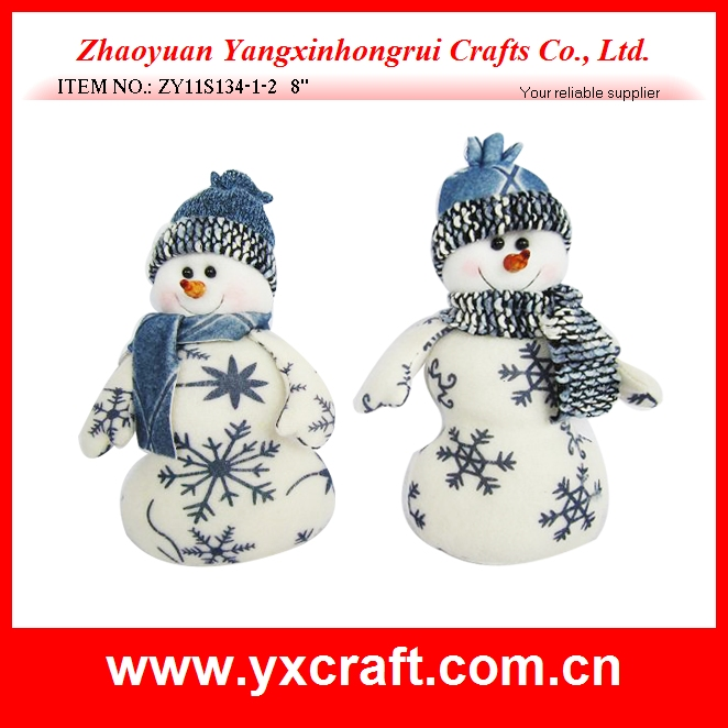 Fabric christmas snowman decoration