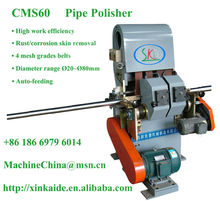 metal pipe tube rod grind polish deburr machine