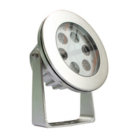 DC12V RGB DMX 18W swimming pool led round underwater light stainless steel ip68