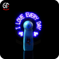 FREE DESIGN New Products Promotional Gift Mini Flashing Message LED Fan