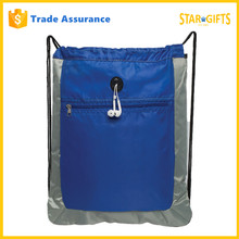 Custom Active Eye Catching Drawstring Sports Backpack With Zipper Pocket