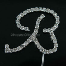 The Letter B Rhinestone Wedding Cake Topper Decoration
