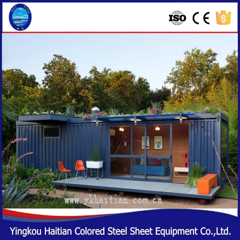 chinese factory prefabricated 40 foot modern container house