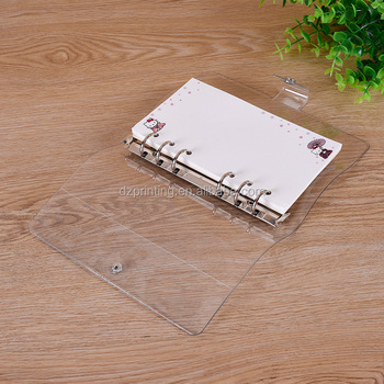 A5 A6 A7 Blank Transparent Plastic PP Cover Loose Leaf Ring Spiral Notebook With Filler Paper