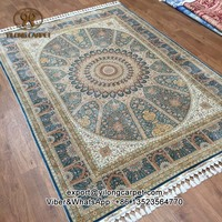 170x245cm Top quality pure natural mulberry silk handmade oriental rug