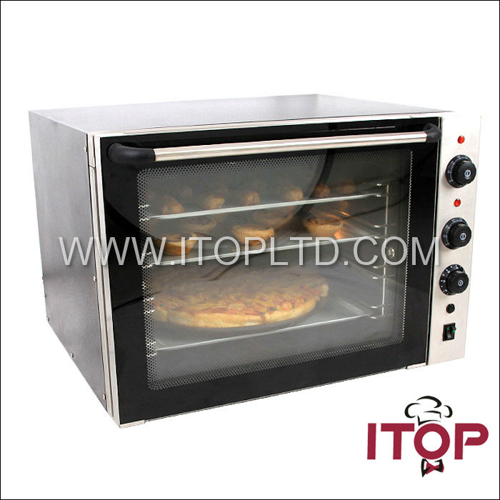 commercial convection oven of stainless steel body