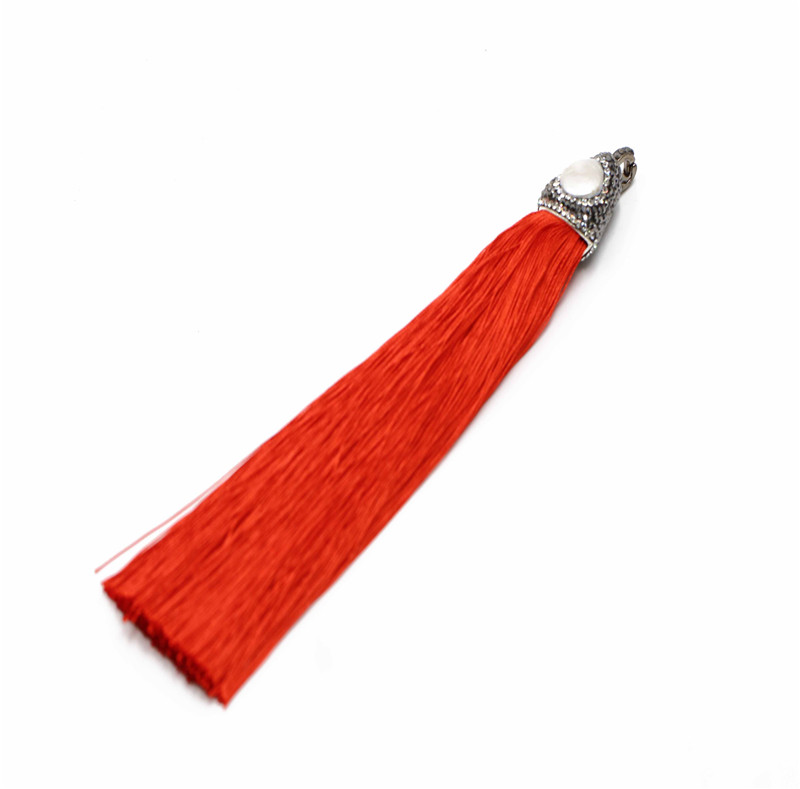 YSQ long coloful tassels pendant for Necklace Jewelry Making