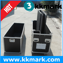 Wholesale price aluminum dual plasma tv flight case with casters