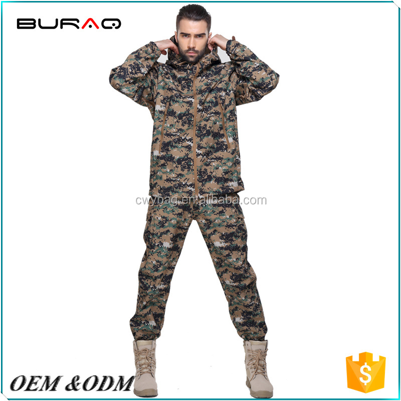 Wholesale Woodland Digital Camouflage military suit for male