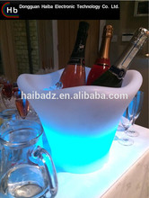 Rechargeable RGB color remote control led party ice bucket with lid solar flower pot