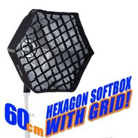 Selens photographic Soft box 60cm Hexagon Softbox with L-Shape Adapter Ring Photo Studio Accessories quick set up