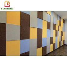 New light weight color carved polyester fiber acoustic panel