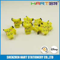 Extrude pokemon eraser, rubber pencil eraser, eraser for promotional gifts