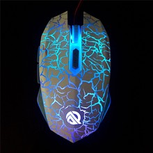 7 Color Led Lighted Breathing Wired Gaming Mouse 3000DPI