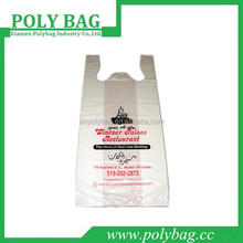 hanger plastic t shirt bag with logo printed