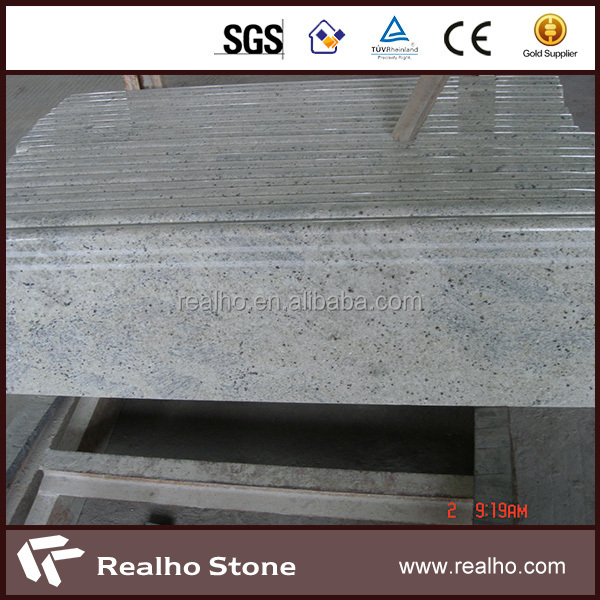 Kashmir white interior stone stair treads with edge protection