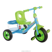 hot sale good quality 3 wheeler ride on /children tricycle with big rear basket --meacool brand --xingjiu co