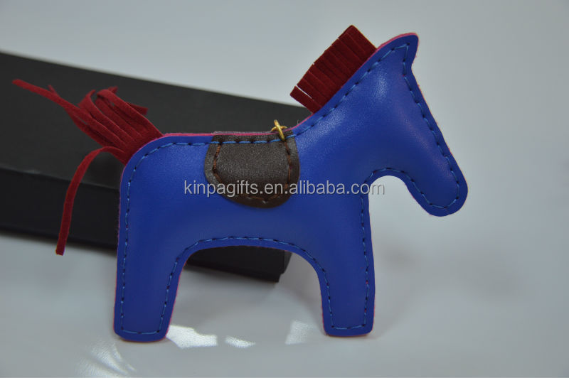 Leather Animal Horse Keychain
