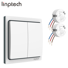 Linptech K4RW2 Kit smart wireless long range remote control light <strong>switch</strong> EU/US/UK Plug waterproof kinetic <strong>switch</strong> for bathroom