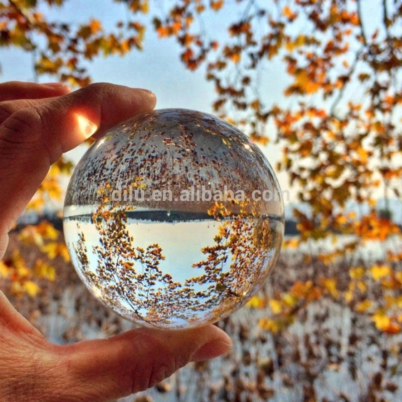 Custom Transparent Crystal Bubble Ball K9 Snow 3d Crystal Globe Small Clear Glass Balls 200mm For Wedding Gift