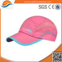 High quality light breathable running cap/custom dri fit polyester running hat/mesh running sprots hat