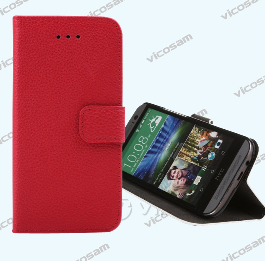 Best Quality Flip Leather Cover Case for HTC ONE M8